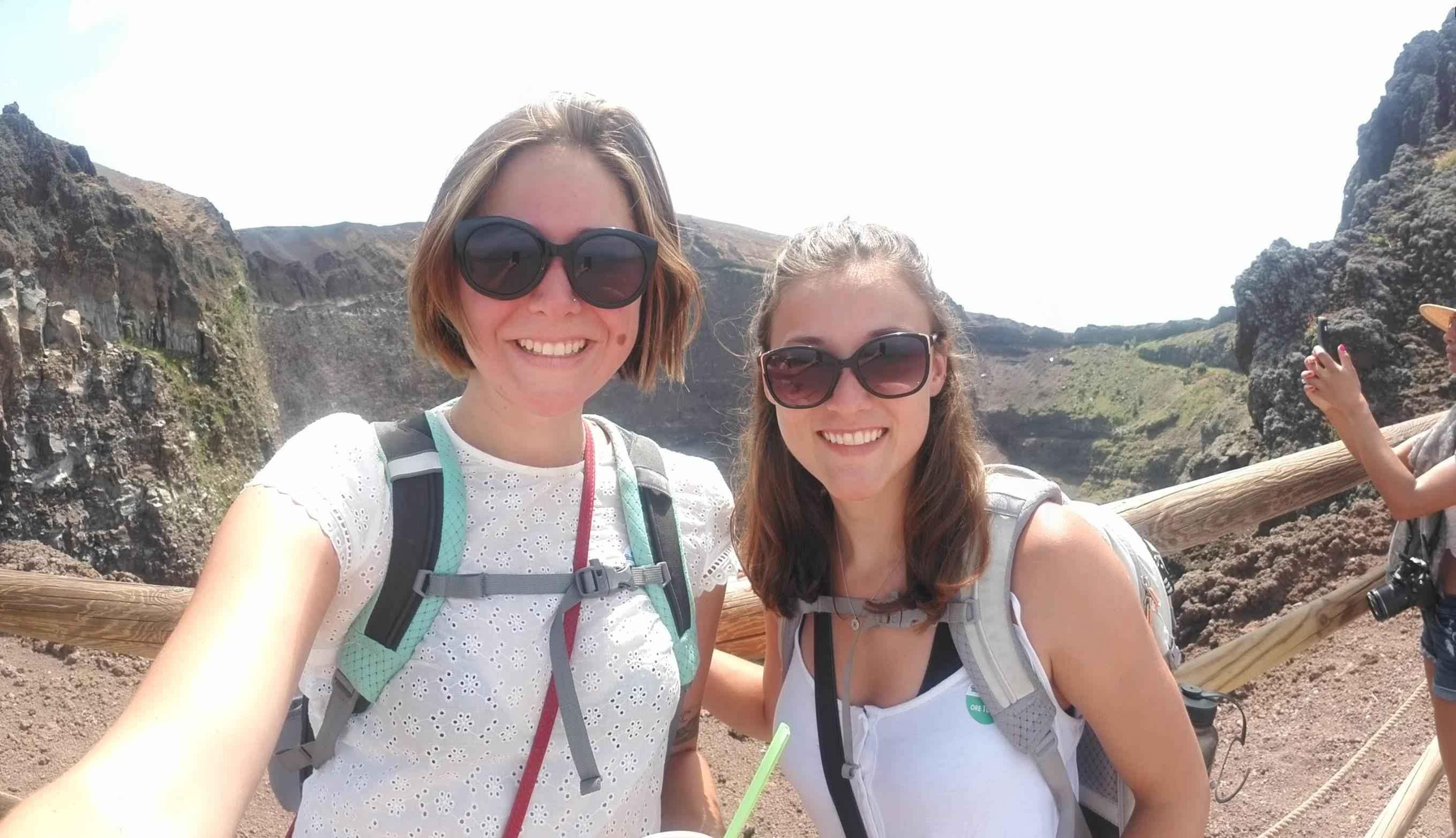 Kylie and I at the top of Mt. Vesuvius