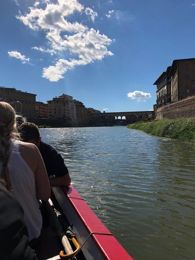On the Arno River Seeing Ponte Vecchio