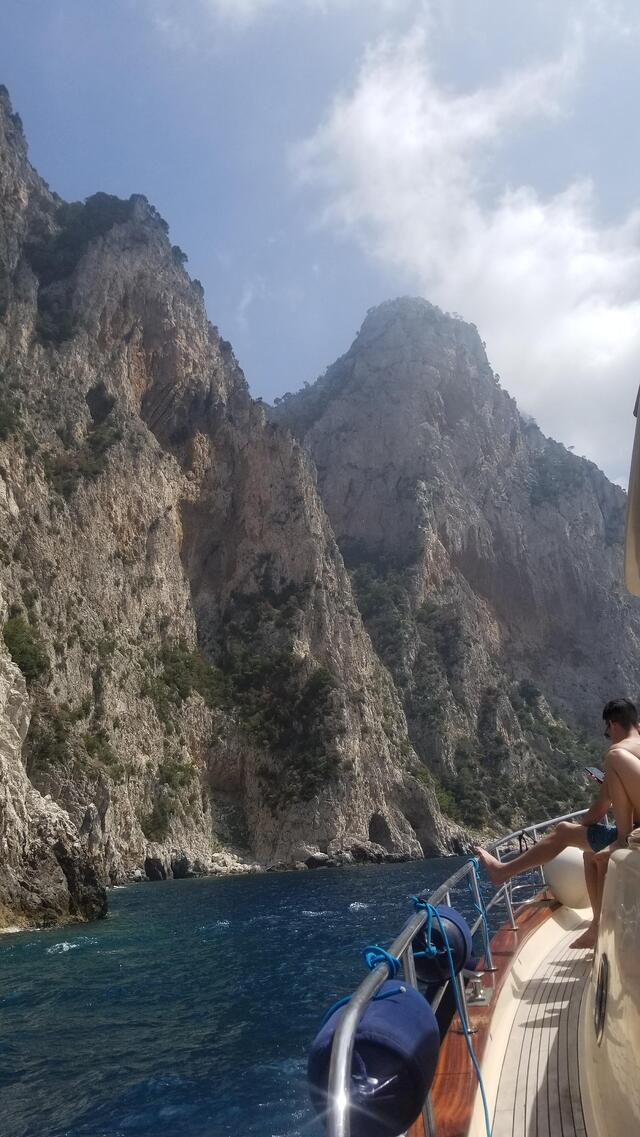 Our Group Booked a Yacht to Tour around Capri