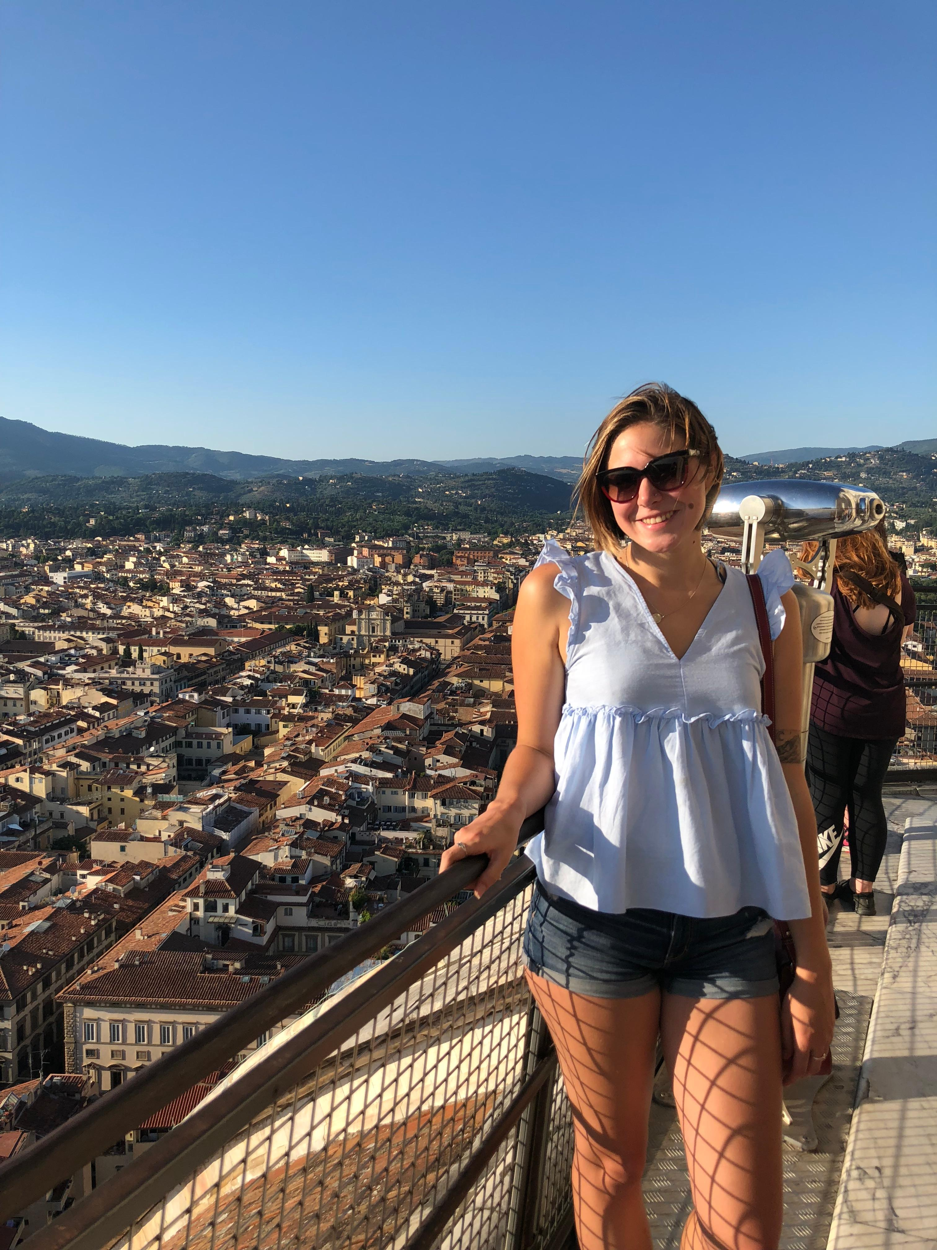 CAPAStudyAbroad_Florence_Summer2018_From Allyson Barnes - Overlooking the City