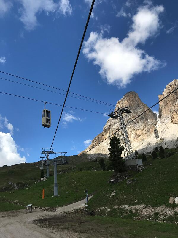 Atop Passo Sella