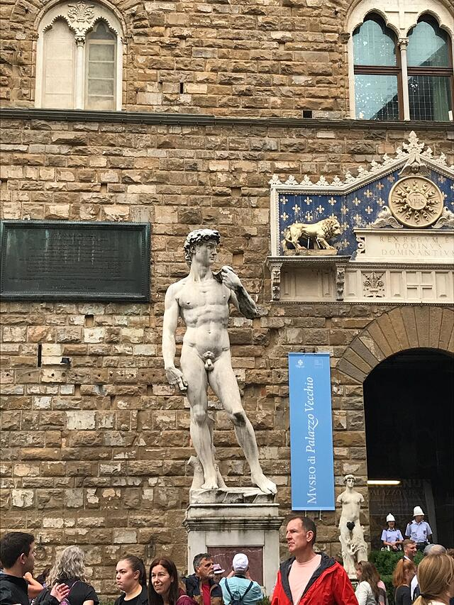 CAPAStudyAbroad_Florence_Summer2018_From Hannah Hardenbergh - Copy of Michelangelo's David in front of Palazzo Vecchio
