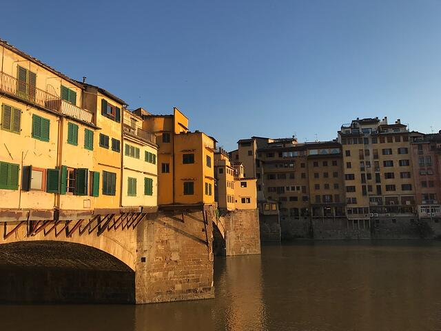 CAPAStudyAbroad_Florence_Summer2018_From Hannah Hardenbergh - Ponte Vecchio During Golden Hour