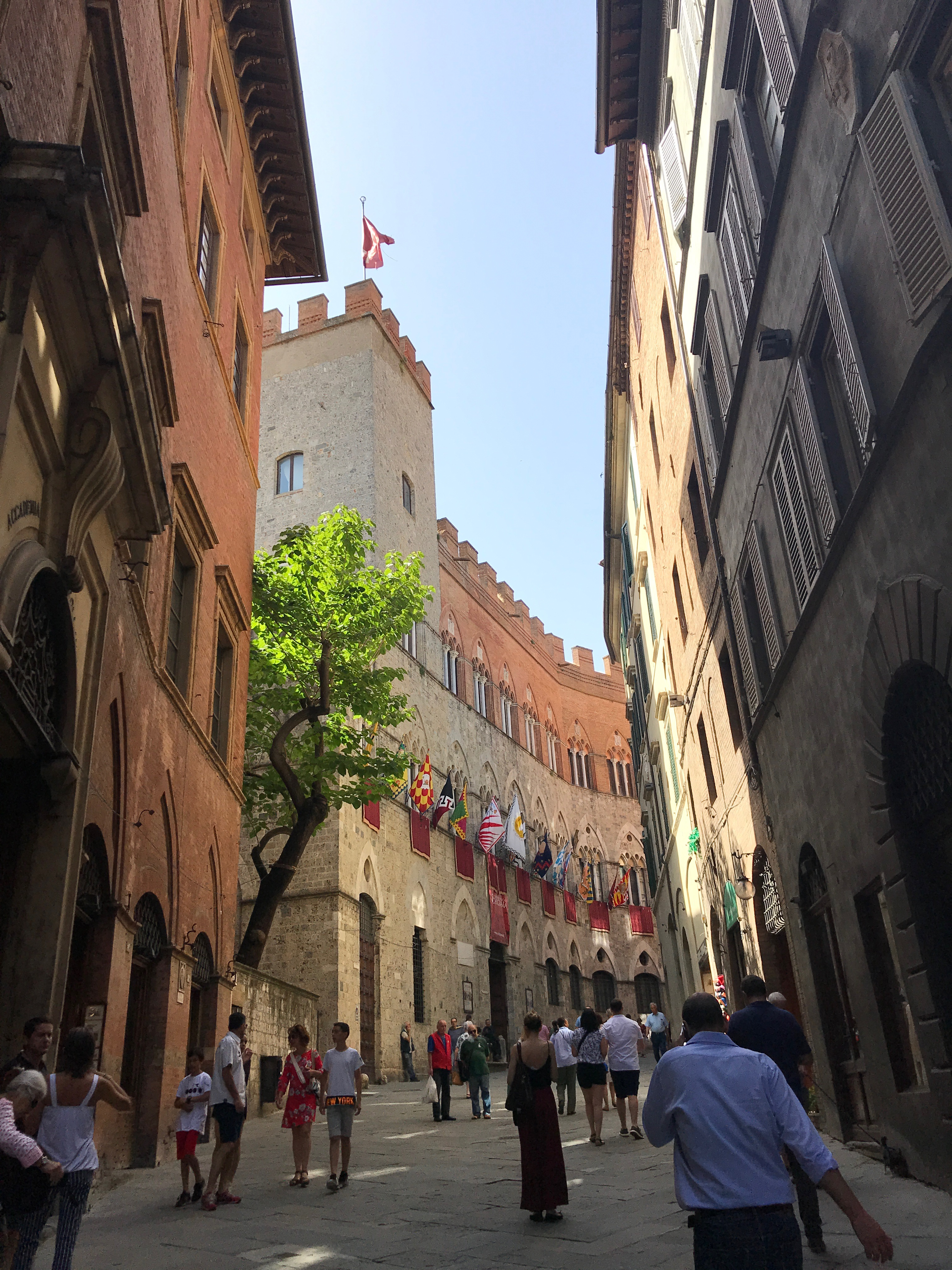 Streets of Siena during Palio di Siena