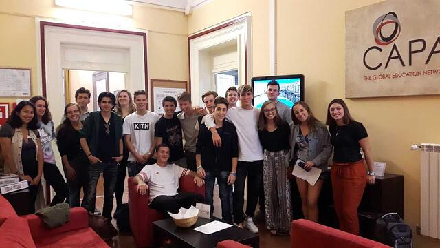 Fall 2018 CAPA students & Florentine high school student participating in the FriendMe program.