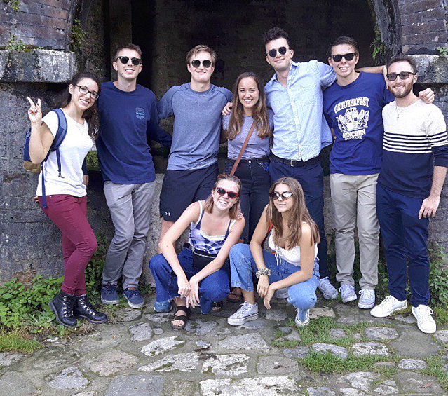 Outside the Medieval Baths in San Gimignano
