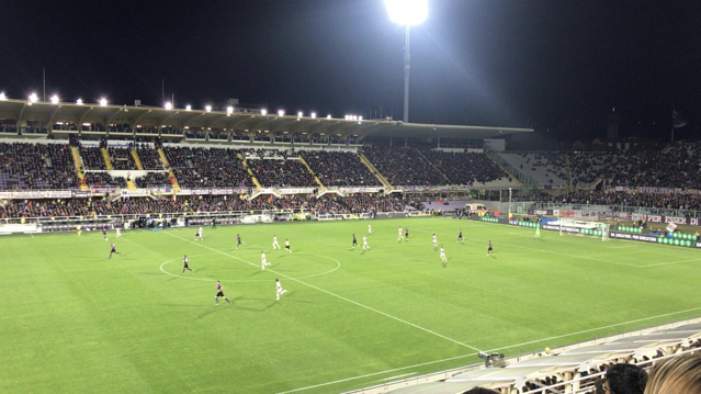 View from our Seats at the Fiorentina vs Roma Futbol Match