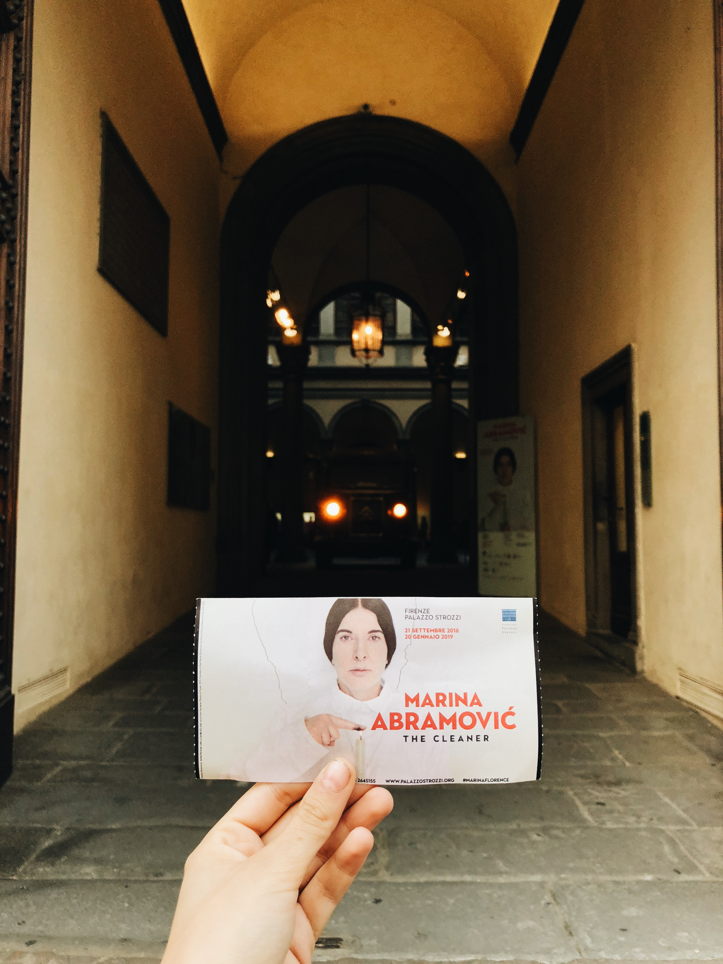 Marina Abarmovic's The Cleaner at Palazzo Strozzi