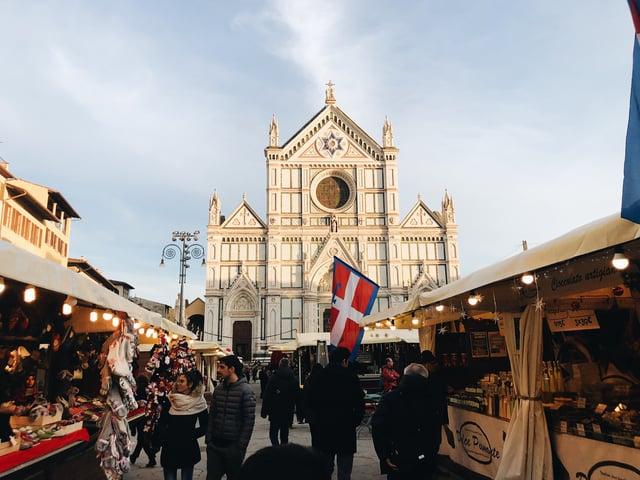 Christmas markets in Santa Croce