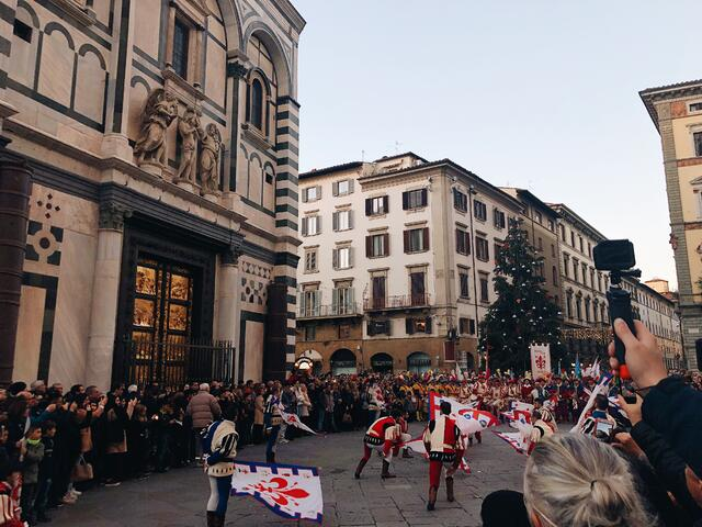 CAPAStudyAbroad_Florence_Fall 2018_Payton Meyer_The festival right before the tree lighting in Piazza Del Duomo!