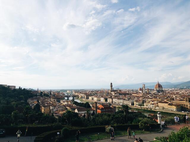 The perfect combo of country and city from Piazzale Michelangelo