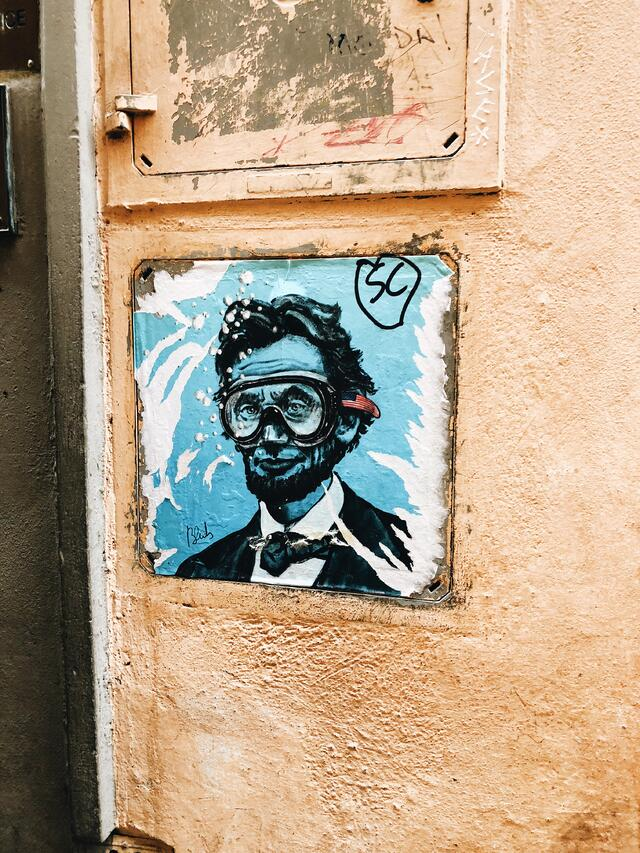 Lincoln By Blub Street Art