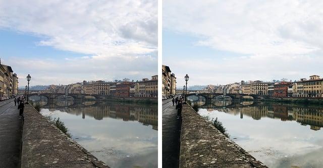 Ponte Vecchio Edited vs Unedited