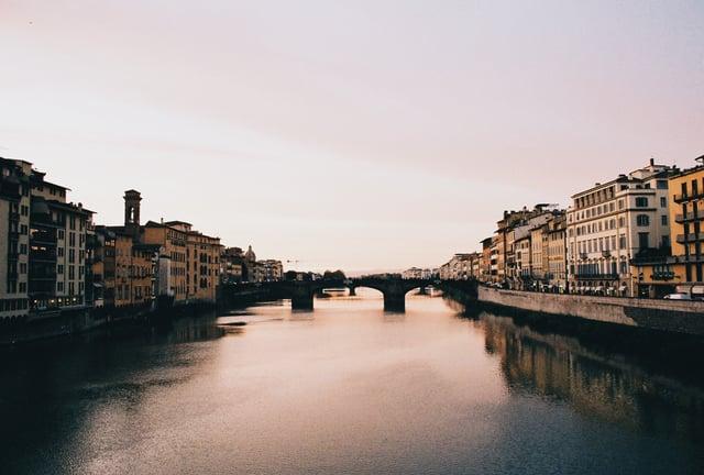 Ponte Vecchio at Sunset_35 mm Film