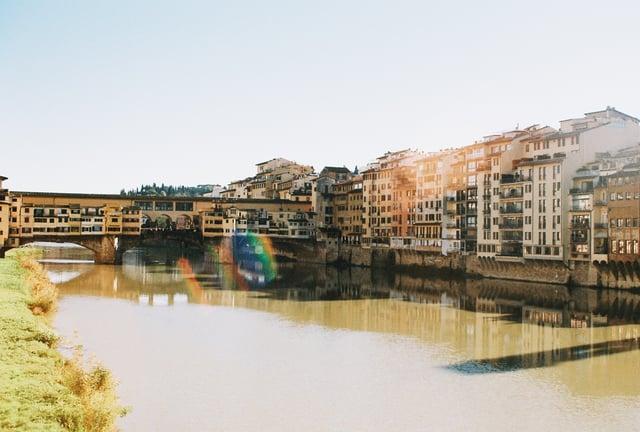 Sunny shot of Ponte Vecchio_35 mm film
