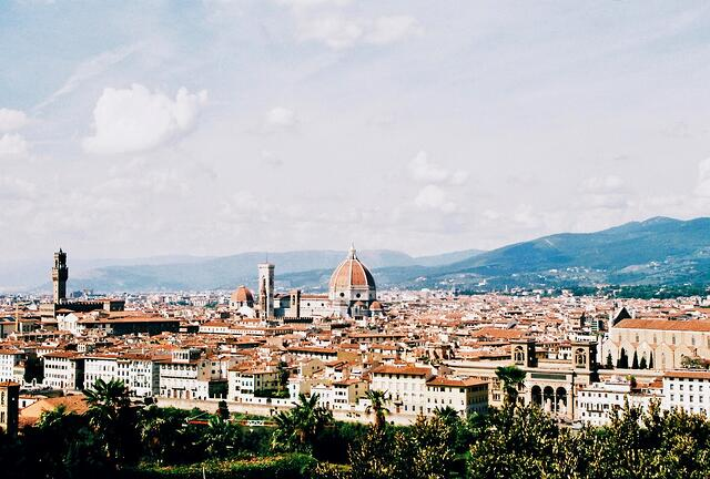 View of Duomo form Florence Hillside_Film