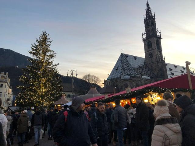 The Bolzano Christmas market.
