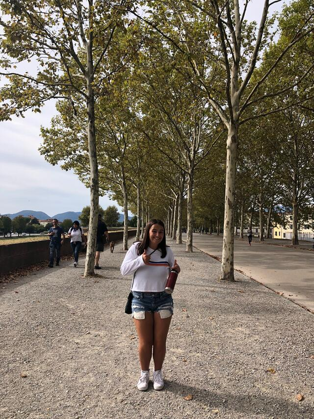CAPA student Sarah enjoying Lucca, Italy