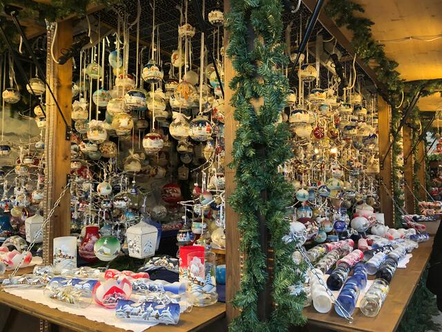 An ornament booth in Merano