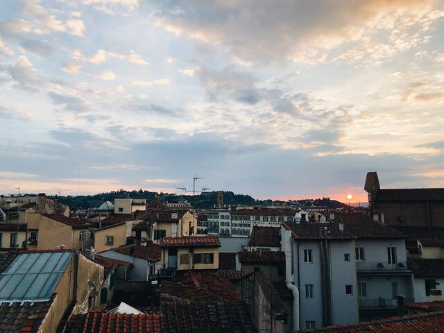 Sunset from a Florence Rooftop