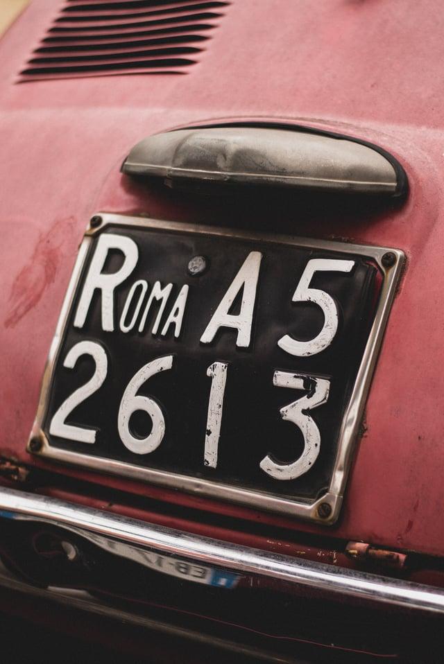 Car in Rome