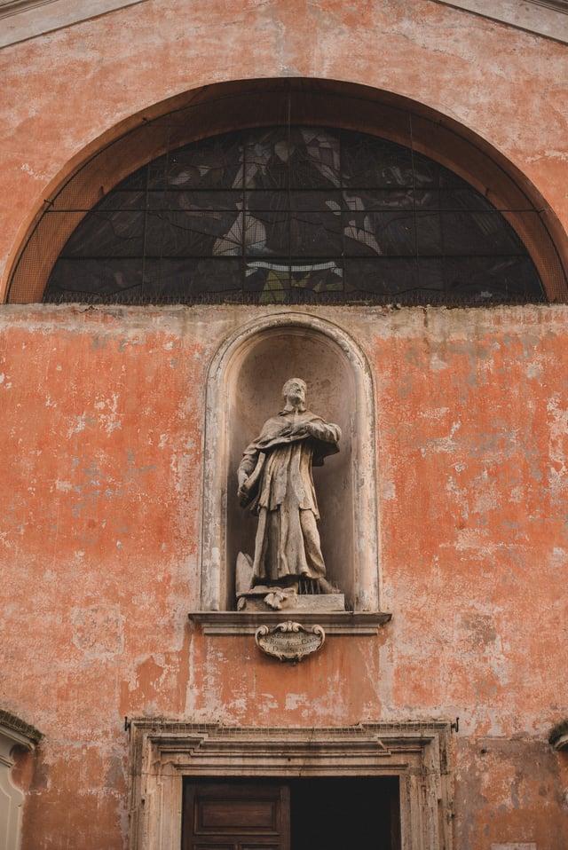 Church Statue in Rome