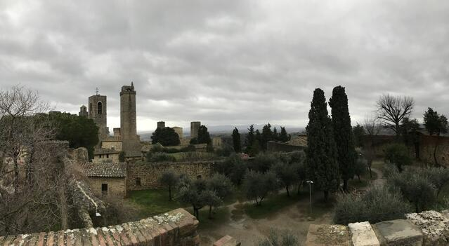 Panorama from one of San Gimignano's towers