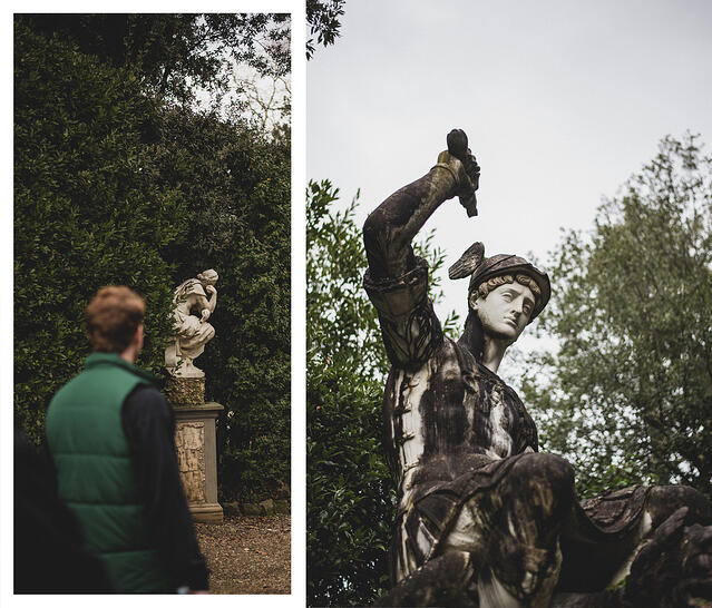 Statues at The Boboli Gardens