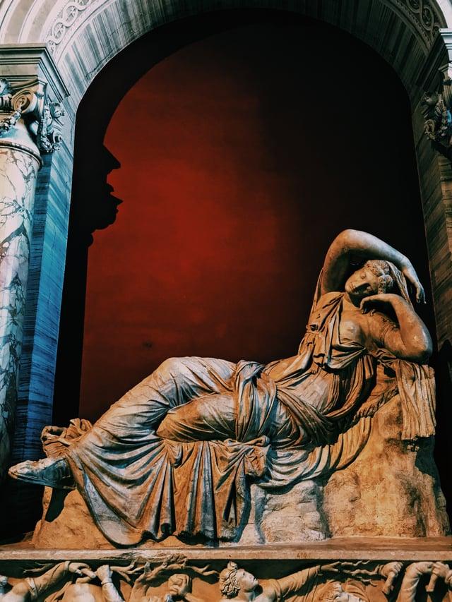 A Sculpture of a Woman
