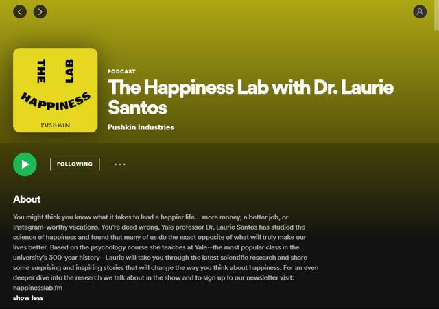Happiness Lab Podcast