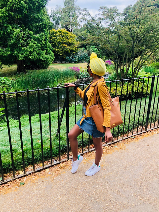 In Regent's Park with My New Yellow Scarf