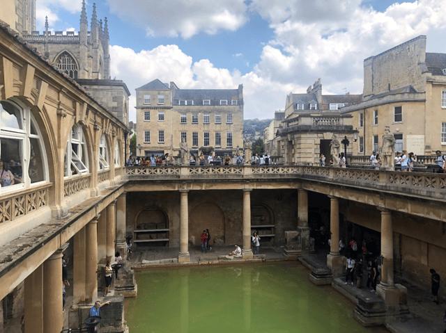 Overlooking the Roman Baths