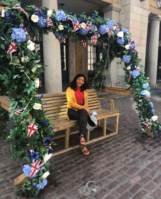 CAPAStudyAbroad_London_Summer2018_From Mariah Thomas - Sitting Under a Floral Structure