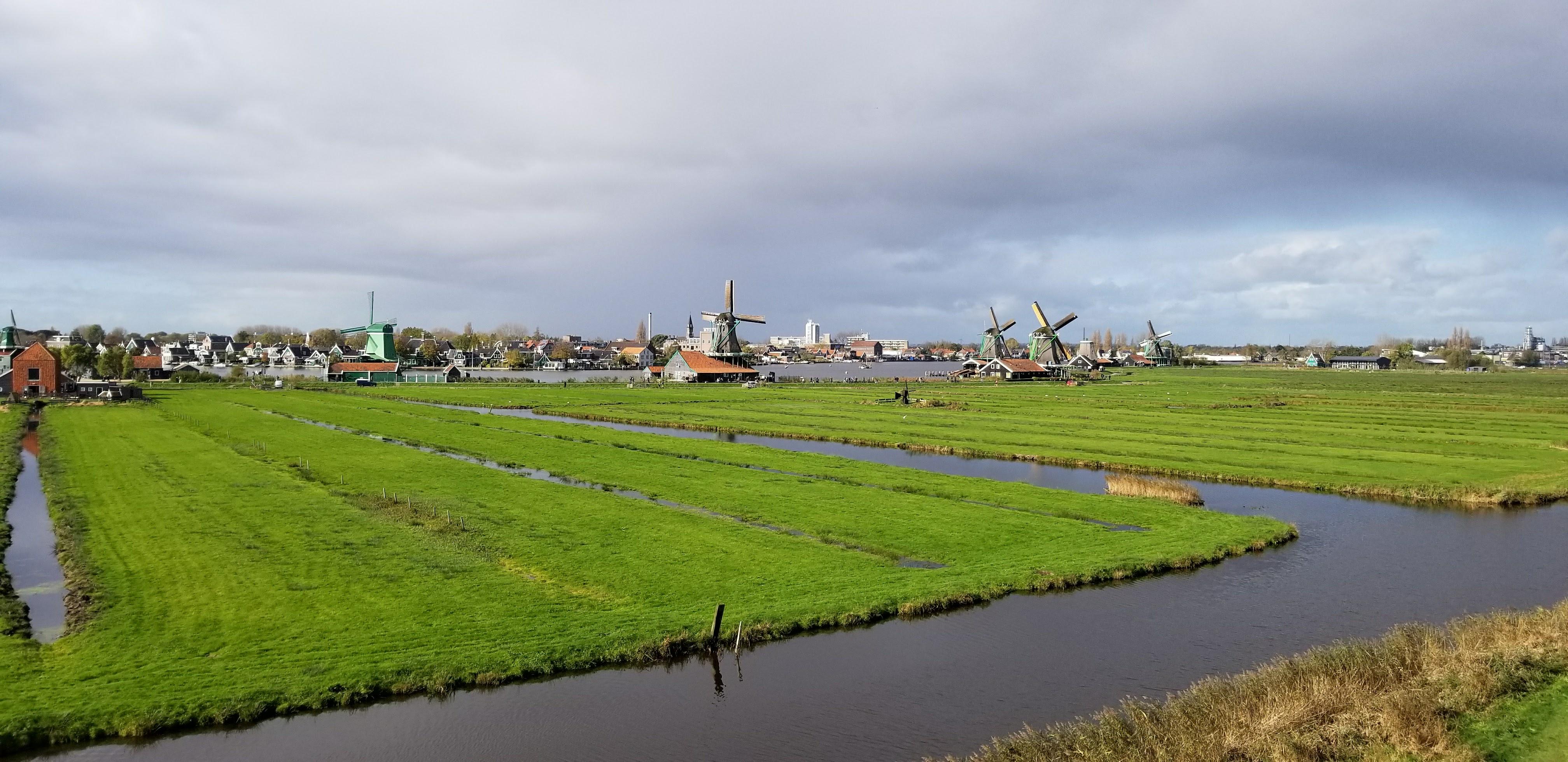 CAPAStudyAbroad_London_Fall2017_From Thaddeus Kaszuba - Fall Break_Peaceful Fields with Windmills In Zaanse Schans.jpg