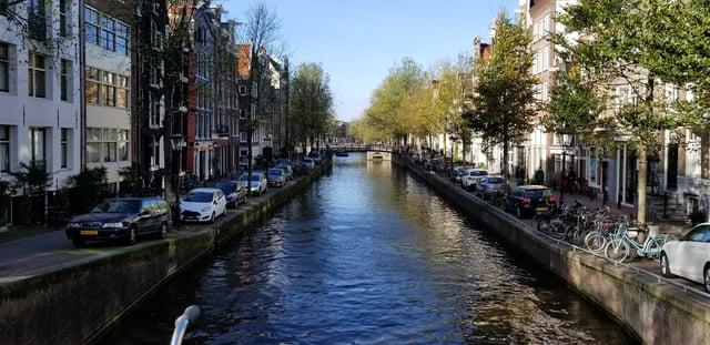 CAPAStudyAbroad_London_Fall2017_From Thaddeus Kaszuba - Fall Break_View from a bridge over a Canal in Amsterdam.jpg