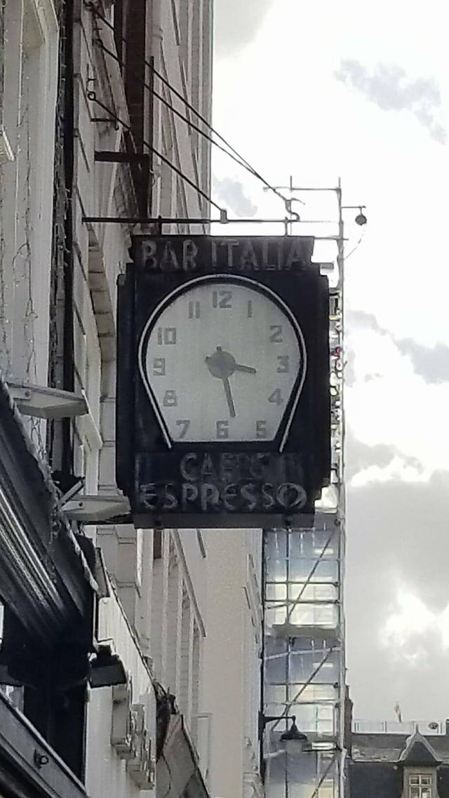 CAPAStudyAbroad_London_Fall2017_From Thaddeus Kaszuba - The Bar Italia Clock.jpg