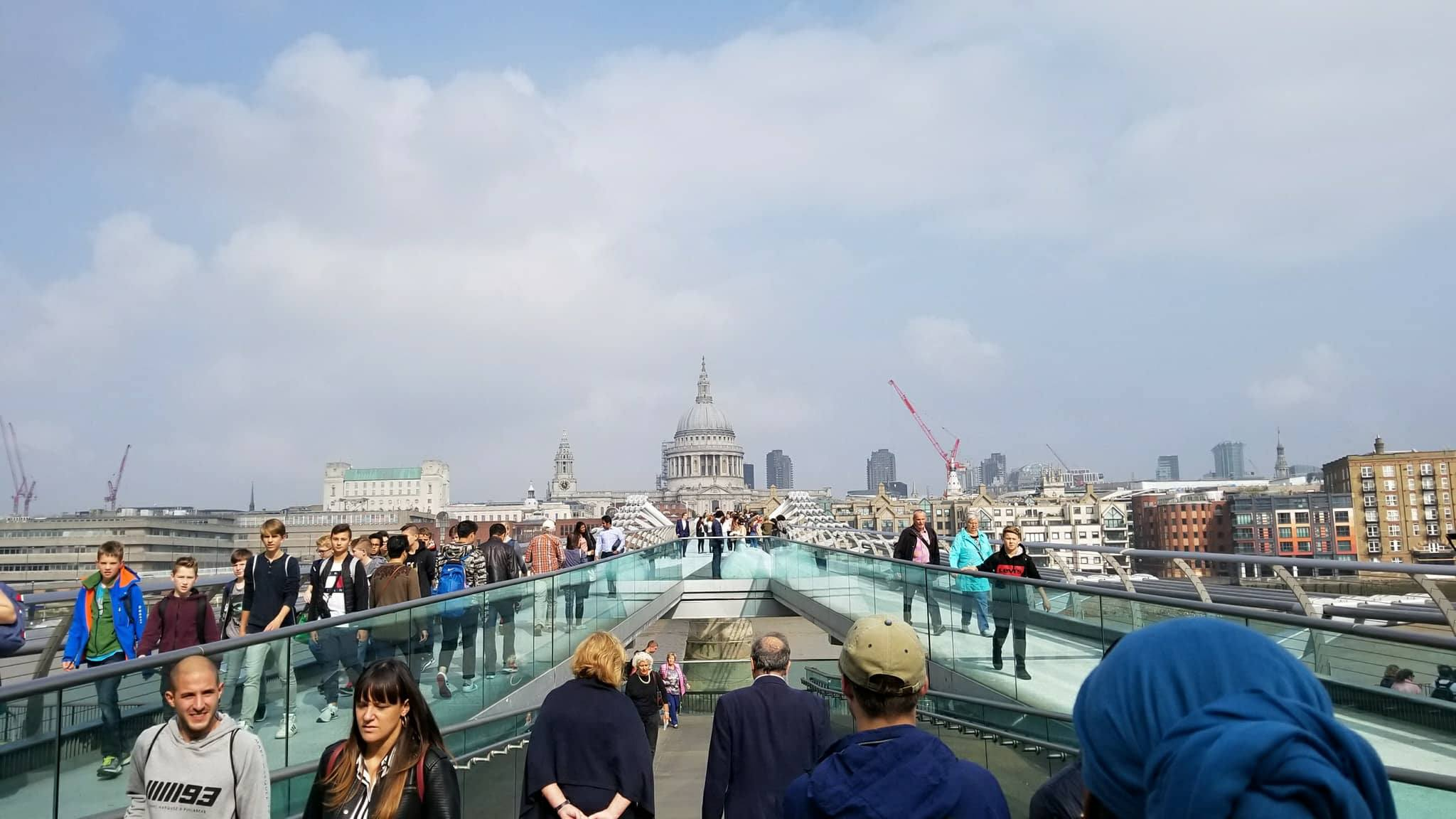 CAPAStudyAbroad_London_Fall2017_From Thaddeus Kaszuba - View of St. Paul's Cathedral from Suspended Bridge over Thames.jpg