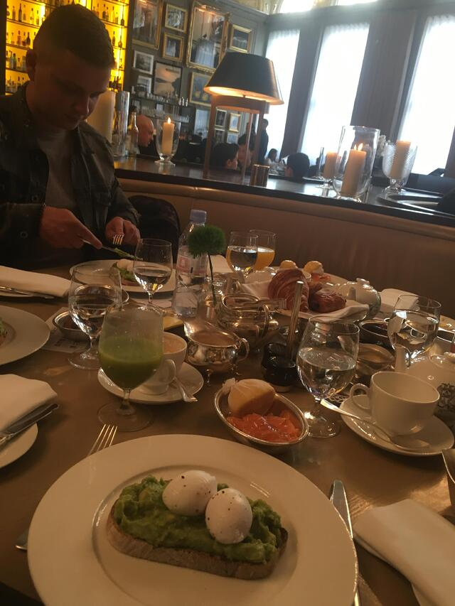 Employee Experience Breakfast at Berners Tavern at Internship Site--London Edition Hotel