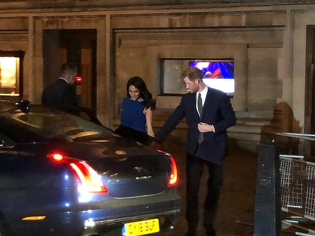 Sighting of Prince Harry and Meghan Markle at Westminister