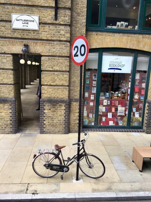 A Bicycle Outside Riverside Bookshop