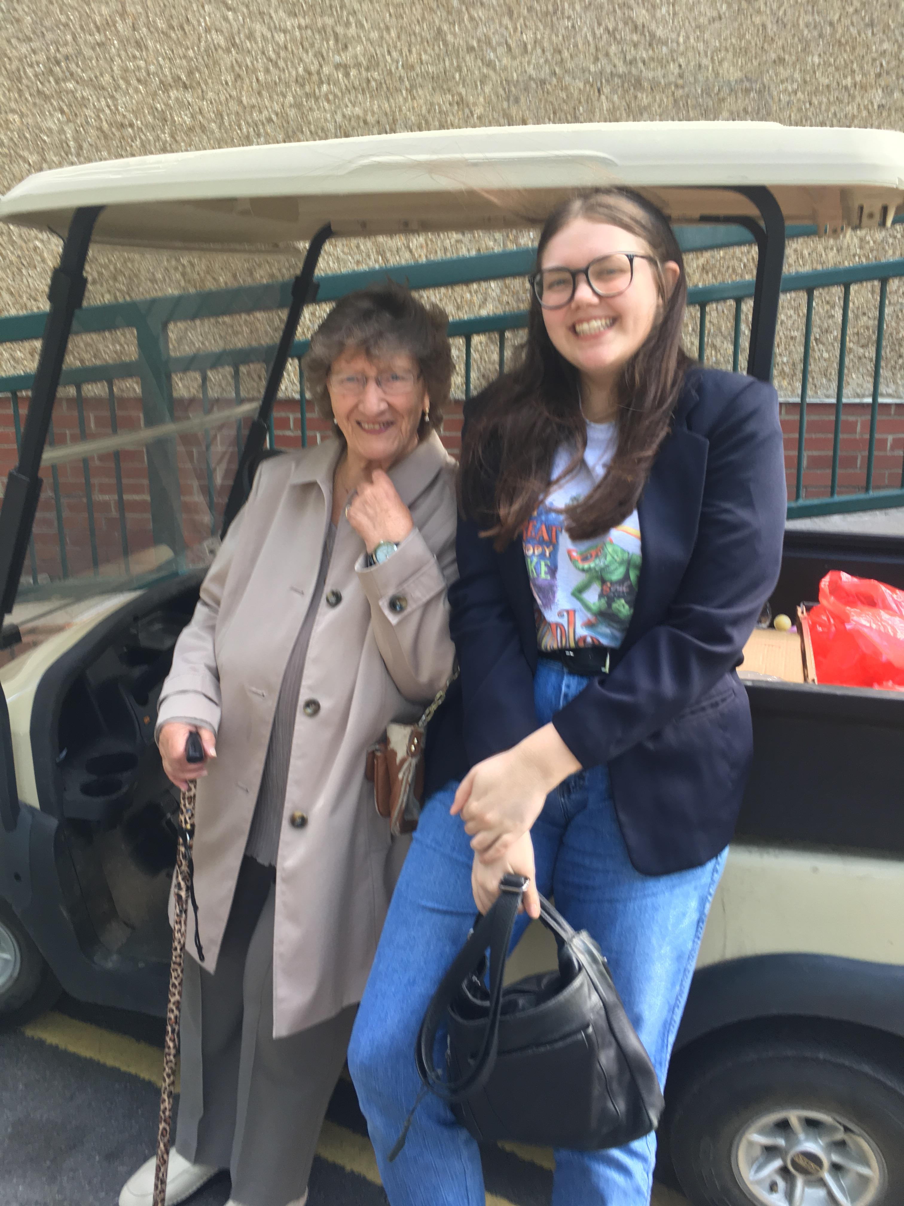 A Photo with Former Newton Aycliff Mayor Lyn Leach, Resident of Middridge and Friend of Grandma