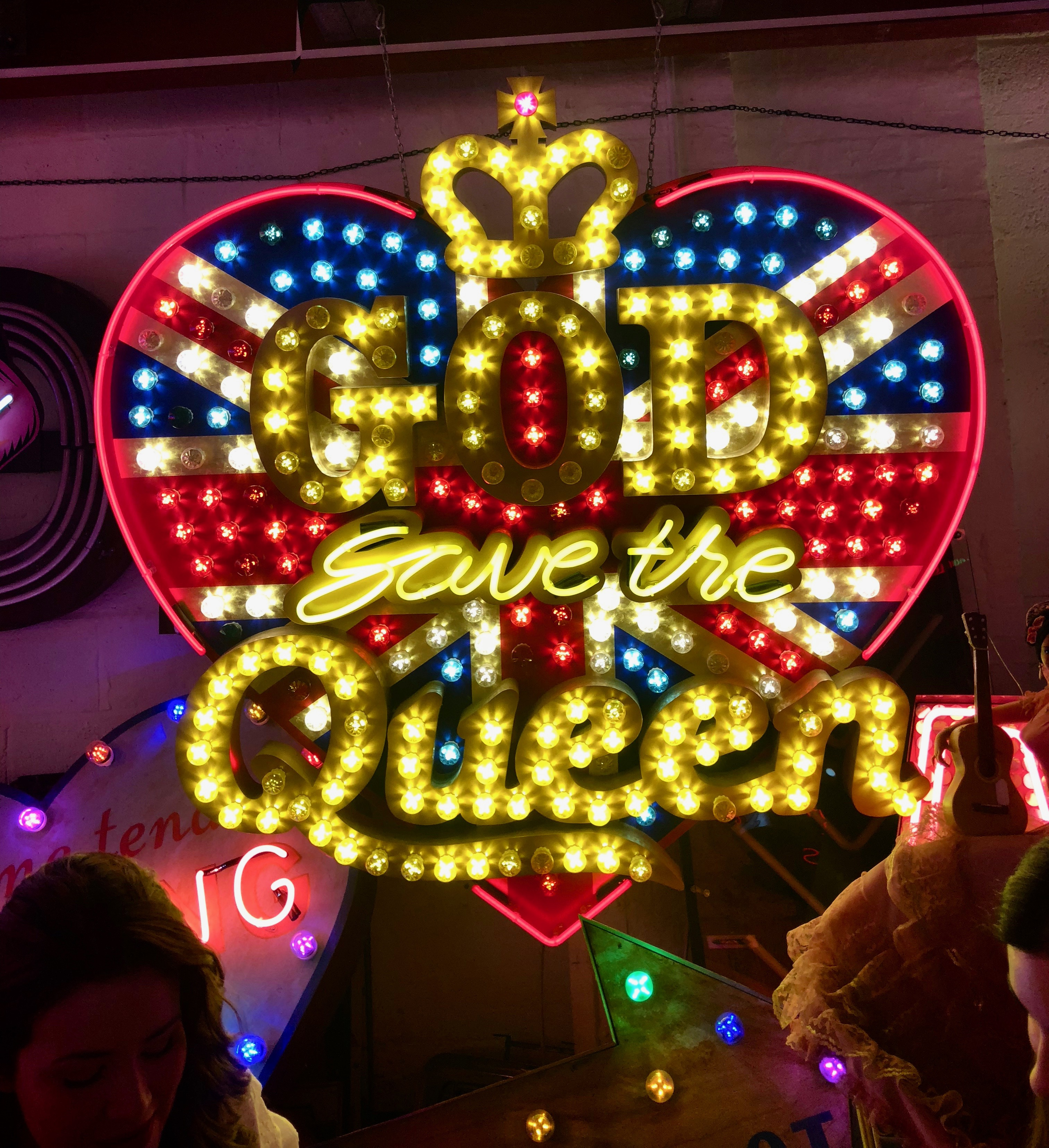 CAPAStudyAbroad_London_Spring2018_From Kelly Allen - God Save the Queen Neon Sign in God's Own Junkyard