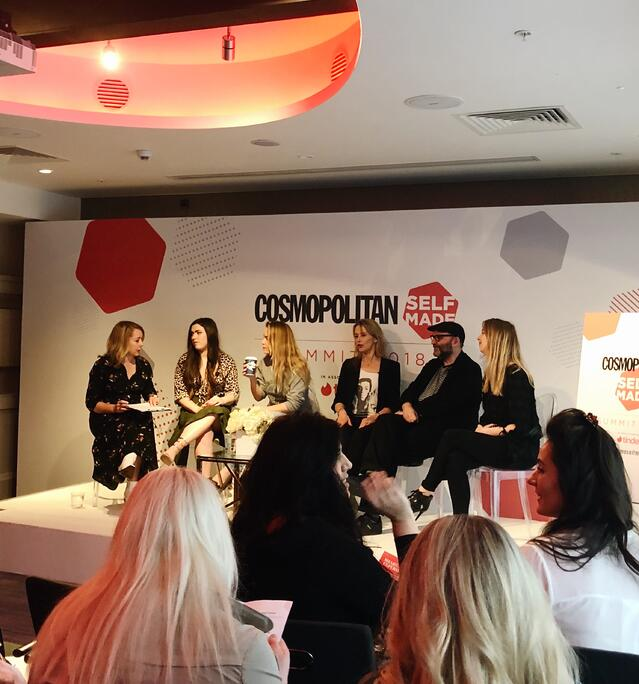Listening to a Panel at Cosmopolitan 2018 Self-Made Summit