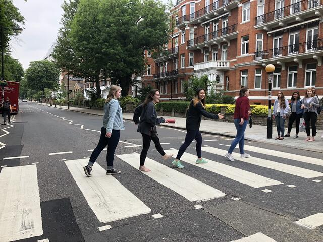 CAPAStudyAbroad_London_Summer2018_From Alice Ding - At Abbey Road During a Class on The Beatles