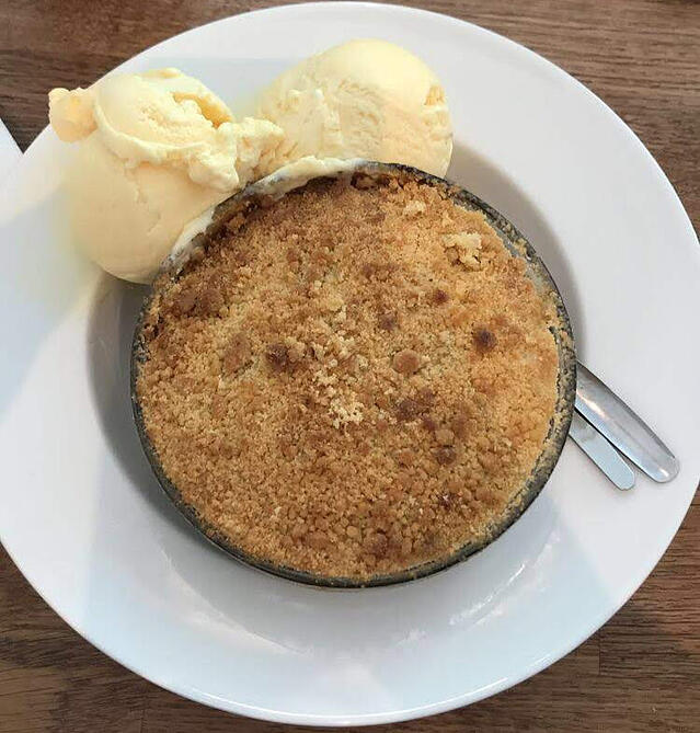 CAPAStudyAbroad_London_Summer2018_From Alice Ding - Blackcurrant Crumble and Ice Cream at Goddards on Greenwich