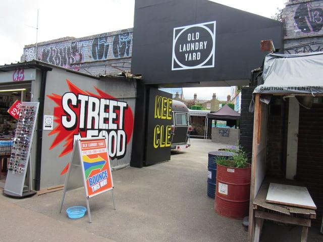 Entrance to Old Laundry Yard in Shepherd's Bush Market