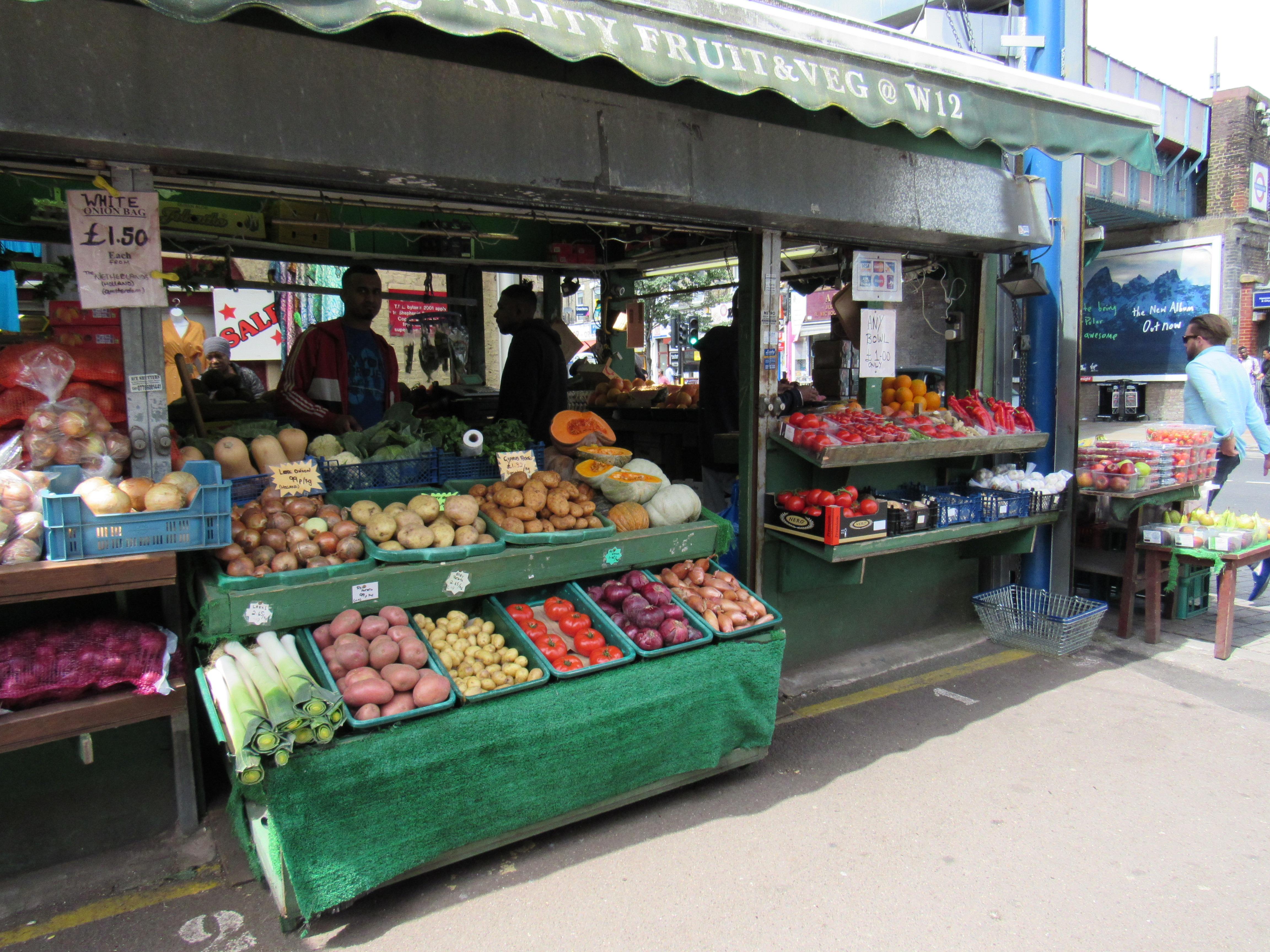 Produce Stand in Shepherd's Bush Market