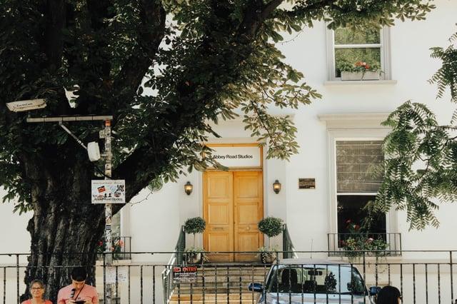 Outside Abbey Road Studios