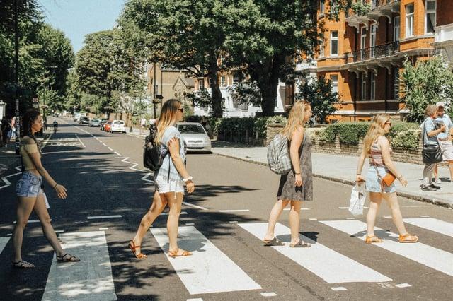 Posing Like The Beatles on the Famous Crosswalk