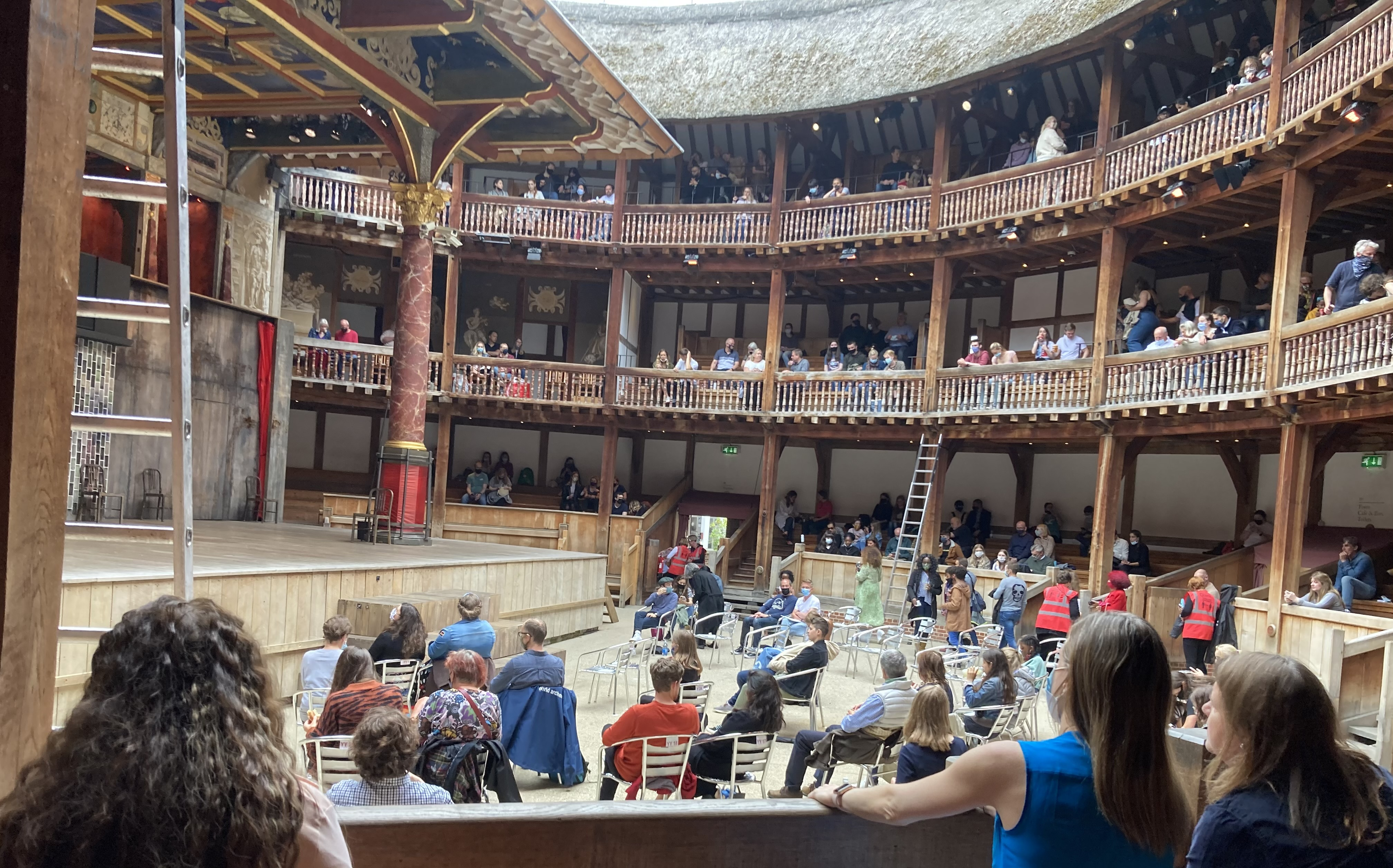 Inside view of Shakespeare's Globe Theatre.